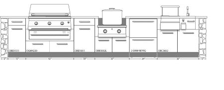 Outdoor Kitchen Layout